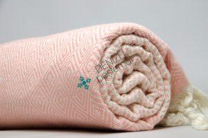 Diamond Stripe Peshtemals yoga towel